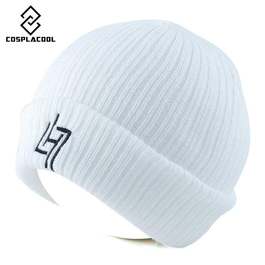 [COSPLACOOL] Warm men and women letter LH7 knitted cap autumn and winter fashion hat LH7 knitted hat lovers cap Îäåæäà è àêñåññóàðû<br><br><br>Aliexpress