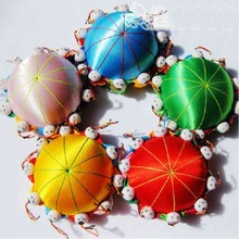 wholesale 5PCS Chinese HANDMADE Silk Sewing Tool vintage pin Cushion with10 cute kids