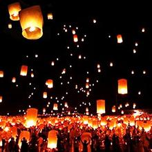 5Pcs/Set Mini Sky Lanterns Chinese Paper Sky Candle Fire Balloons For Festive Events Flame-retardant paper lanterns