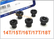M1 14T /15T/ 16T/ 17T/ 18T 5mm Shaft Steel Metal Pinion R/C Hobby Motor Gear For HOBAO Monster Truck Buggy