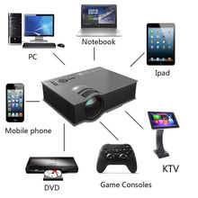 UC46 Wifi HD 1080P LED Video Projector 3D Wifi Home Theater SD TV/USB/VGA HDMI WIRELESS MULTIMEDIA Support Miracast DLNA Airplay