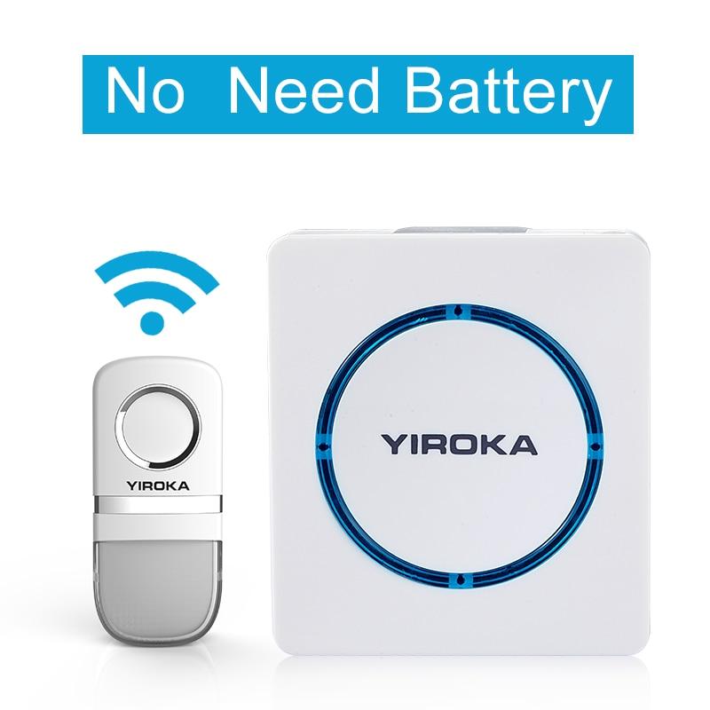Special No Need Battery Wireless Door bell Waterproof 25 Tunes Wireless electric doorbells U/US/UK Plug-in campainha sem fio <br>