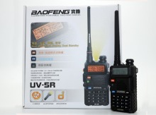 BaoFeng UV-5R Walkie Talkie UHF VHF Dual Band UV5R CB Radio 128CH VOX Flashlight Dual Display FM Transceiver Radio 5 colour(China)