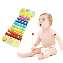 8 Notes Wooden Musicial Education Toys Baby Music Toys Glockenspiel Wisdom Juguetes Musical Instrument Early Learning Piano Toy