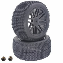 2Pcs 88MM Rubber RC 1/10 Buggy Rear Wheels Tires Hex 12mm Width :41mm For Remote Control Hobby Car Parts