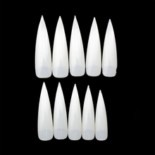 Long Sharp False Nail Art Tips Natural White False Nail Art Finger Factory Direct T073 Nail Supplies Show A Film Salon Wholesale