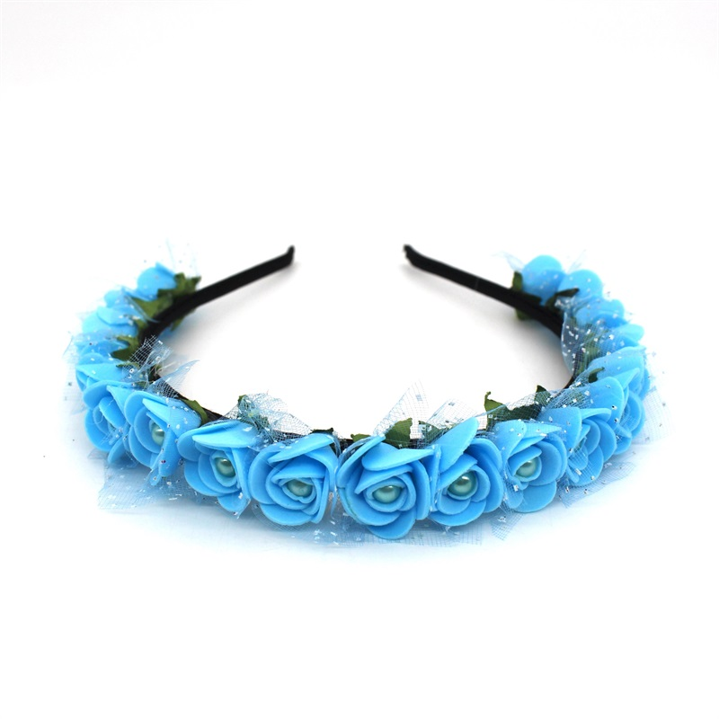 Lanxxy 17 New Fashion Pearl Flowers Hairbands for Girls Women Wedding Bridal Hair Accessories Floral Headbands 11
