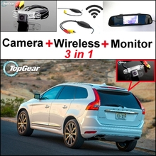 3 in1 Special Rear View Wifi Camera + Wireless Receiver + Mirror Monitor Easy DIY Buck Up Parking System For Volvo XC60