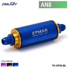 TANSKY - Racing Ready Inline Fuel Filter AN8 Blue with 100 Micron Element TK-OF08(China)