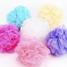 1pc Bath Shower Massage Body Exfoliate Puff Sponge Mesh Net Candy Colors Mesh Sponge Soft Bath Brush Sponges Scrubbers