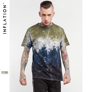 L'INFLATION 2017 D'été de Planche À Roulettes De Skate Garçon T-shirt Tie Dye Hiphop Hommes T chemises De Mode Style Décontracté