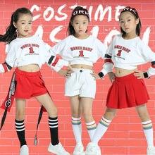 2018 caliente niños rendimiento conjuntos de ropa Tops + Pantalones niños  danza Jazz ropa niños niñas baile Hip Hop trajes 427492694f5