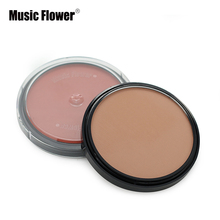Music Flower 4 Color Matte Bronzer Highlighter Contour Shading Powder Makeup 24H Waterproof Long Lasting 3D Face Compact Palette(China)