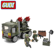 GUDI SWAT Military Cannon Blocks 141pcs Bricks Soldiers Gun Building Block Sets Models Toys For Children(China)