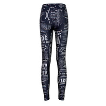 High quality 2015 Women Hot Leggings Digital Print Newspaper letter styles women's Fitness Sexy LEGGING wholesales