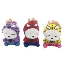 1pc 12cm Plush Pendant Small Stuffed Animal Plush Mashimaro Spider man Plush Rabbit Fashion Pendant Handbag Decorations For Girl