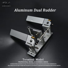 High Quality CNC Aluminum Dual Rudder with Strut 140mm  For 1/4' (6.35mm) Shaft RC Boat Gas O Boat