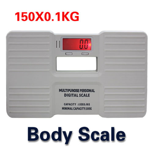 Portable Electronic Digital Bathroom Precision Weight Body Scale 150KG