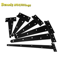 2PCS/Lot Tee T Strap Hinge Hinges Gate Door Black Finish