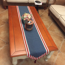 American Country Jacquard Table Runner 33x180cm Morden Striped Table Runners for Wedding Hotel Party Decoration