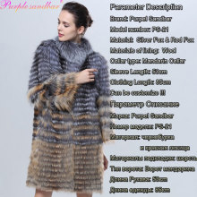 Genuine Fox Fur Fourrure Natural Silver Fox And Red Fox Fur Coat Female Women's Coats Winter