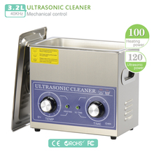 Heater & timer Ultrasonic cleaner 220V 3L 110V 120W 40KHZ PS-20 wash machine EU US Ultrasonic Cleaner Bath For Jewelry Watch (DK(China)