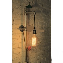 Edison light bulb source set produced 78 pipe industry old style loft retro coffee bar decorative iron lamp creative wall lamp