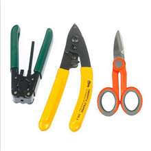 FTTH Splice fiber optic tool kits Fiber Optic Tool 3 sets Pixian Fibre stripping + optical fiber+Kevlar Scissors(China)