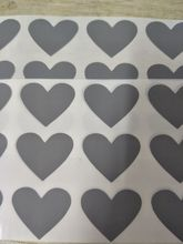 600pcs 25x30mm silver adhesive heart shape SCRATCH OFF sticker DIY manual hand made scratched stripe card film(China)