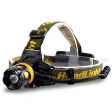 Zoomable Led Headlight lampe frontale cree Q5 Torch HeadLamp Head Torch Lamp Head Flashlight white yellow blue Light for Fishing