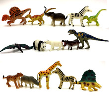10pcs/lot random send original high quality animal forest dinasour/Panda action figure set best kids toys(China)