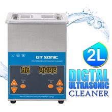 GT 2L Digital Display Ultrasonic Cleaner Timer Heating Setting Bath Cleaning Jewelry Watch Glasses Circuit Board VGT-1620QTD