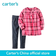 Carter's 2pcs baby children kids Neon Flannel & Denim Legging Set 259G228,sold by Carter's China official store