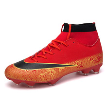 2018 New Superfly 360 CR7 Soccer Cleats Mens SuperflyX VI Elite FG Football Boots High Ankles Outdoor Training Soccer Shoes Kids
