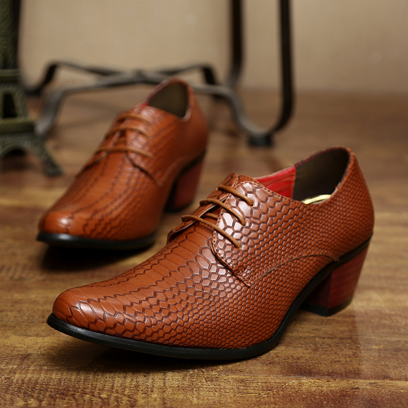 height increasing snake skin men shoes luxury brand italian formal leather male footwear pointed toe brogue oxford shoes for men (37)