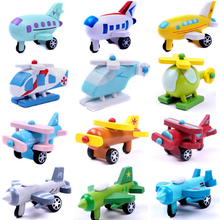 x002 12pcs mini wooden airplane models kit airplane classic wooden model baby learning plan education toys for younger kids ho(China)