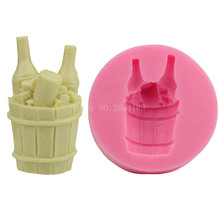 Drink Beer Ice Container Silicone Fondant Soap 3D Cake Mold Cupcake Jelly Candy Chocolate Decoration Baking Tool Moulds FQ2238