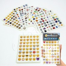 10packs /lot 19 Sheets/Pack Emoji Sticker Pack Emoji Stickers Most Popular Emojis For Mobile Phone Kids Rooms Home Decor Tablet