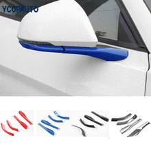 car styling Review Mirror Base Cover Trims Kits ABS For Ford Mustang 2015 Up Free Shipping Exterior Moulding Decoration