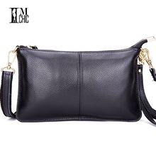 Designer Genuine Leather Small Shoulder Bags Casual Evening Party Clutch Women's Handbags Female Envelope Crossbody Women Bag(China)
