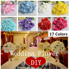 25pcs/lot luxury artificial Hydrangea silk flower Amazing colorful decorative flower for wedding party Birthday decoration(China)