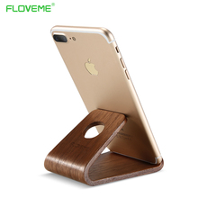 FLOVEME Wooden Stand Holder For iPhone X 5 5s 6 6s 7 8 Plus Desk Holder Universal Phone Support Holder For Samsung Huawei Tablet(China)