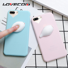 Buy LOVECOM iPhone 7 6 6S Plus 5 5S SE Squishy Case DIY Cute 3D Sea Dog Soft TPU Candy Color Phone Cases Heart Window Cover Bags for $1.48 in AliExpress store