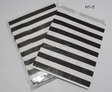 Free Shipping black horizontal stripe Food oil Favor Paper bag,Party Gift Bag Paper Treat Bags Craft Bags Weddng supplies