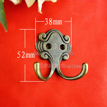 52 * 38mm European creative kitchen zinc alloy hook Pastoral clothes pegs Door-back coat hooks Wholesale Delivery(China)