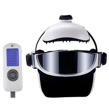 Rechargeable Hot Compress Head Eyes Massager Adjustable Size Head Eye Massage Helmet With Music Life Relaxation Health Care