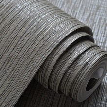 Interior Design Grey Silver Striped Wall Paper Classic Textured Embossed Wallpaper Roll For Bedroom Sofa Background