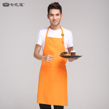 SEVEN LOTUS 2017 Cleaning restaurant Apron Chef Male Apron Adjustable Sleeveless Cooking Work customized Apron 14 colors 20020