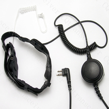Rugged Throat mic Headset with Large PTT for Motorola radios XTN446 XTN500 XTN600 XV1100 XV2100 P040