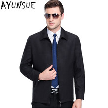 AYUNSUE Casaco Masculino Dark Blue Mens Jackets And Coats Casual Spring Coat Outwear Mens Autumn Jacket Jaqueta Masculino FYY565